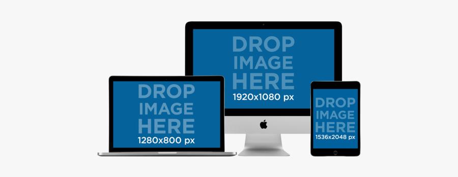 Clip Art Placeit Macbook Pro Imac - Imac Macbook Iphone Mockup, Transparent Clipart