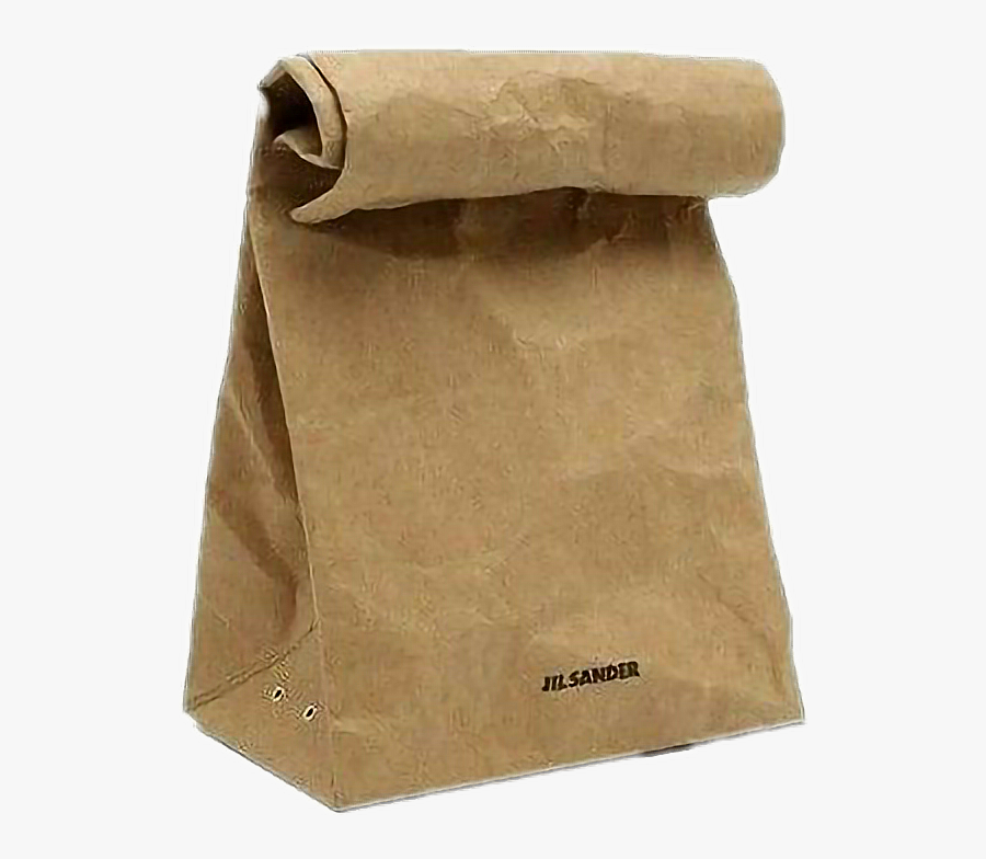 #lunch #aesthetic #brown #paper #food #filler #fillers - Brown Paper Bag Rolled, Transparent Clipart