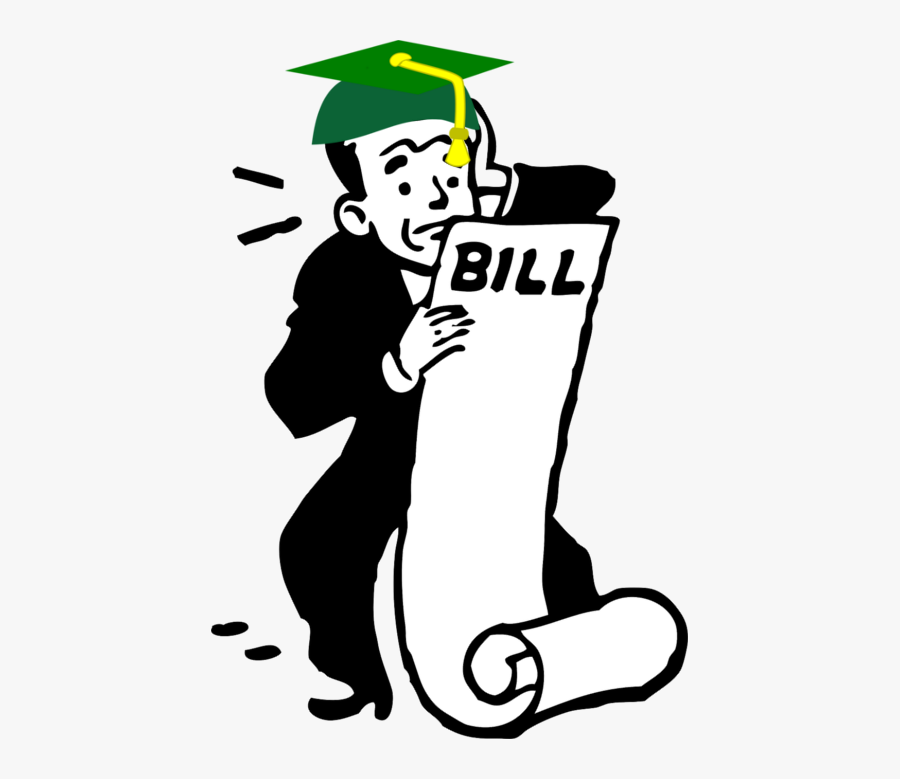 Student Loan Image Idea - Bills To Pay Cartoon, Transparent Clipart