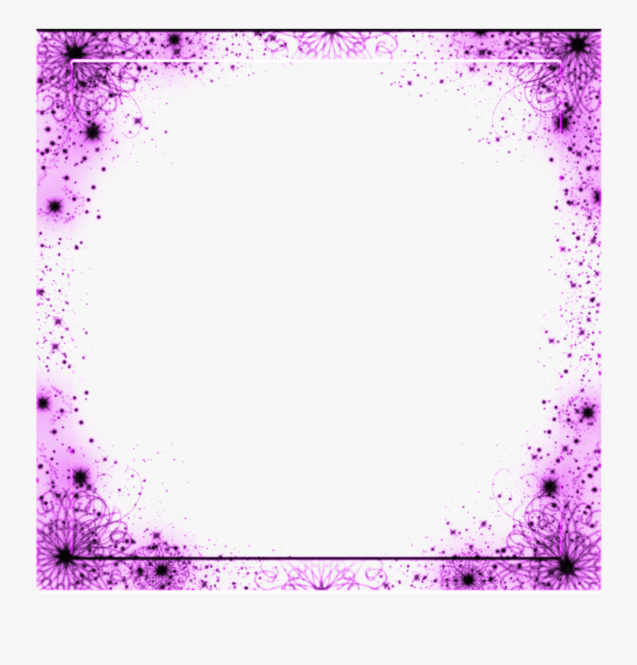 Transparent Sparkle Border Png - Violet Borders And Frames, Transparent Clipart