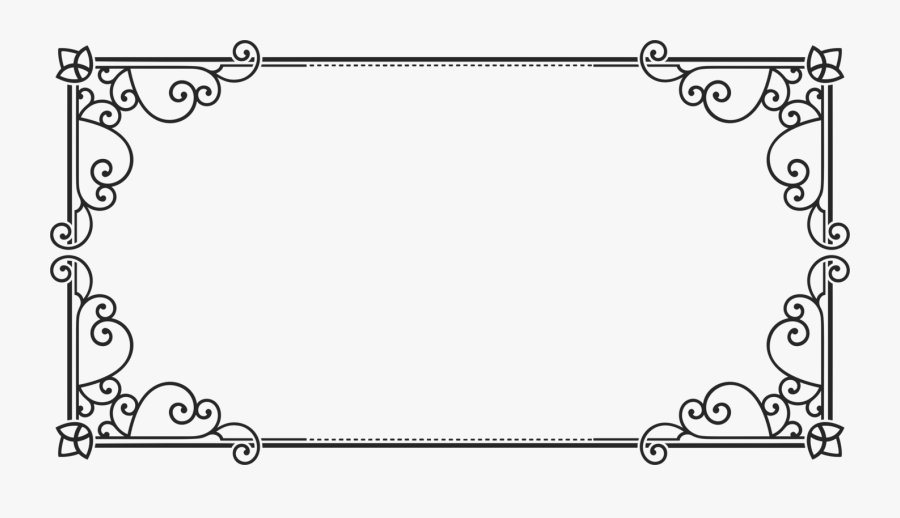 Rectangle Clipart Picture Frame - Rectangle Frame Clip Art, Transparent Clipart