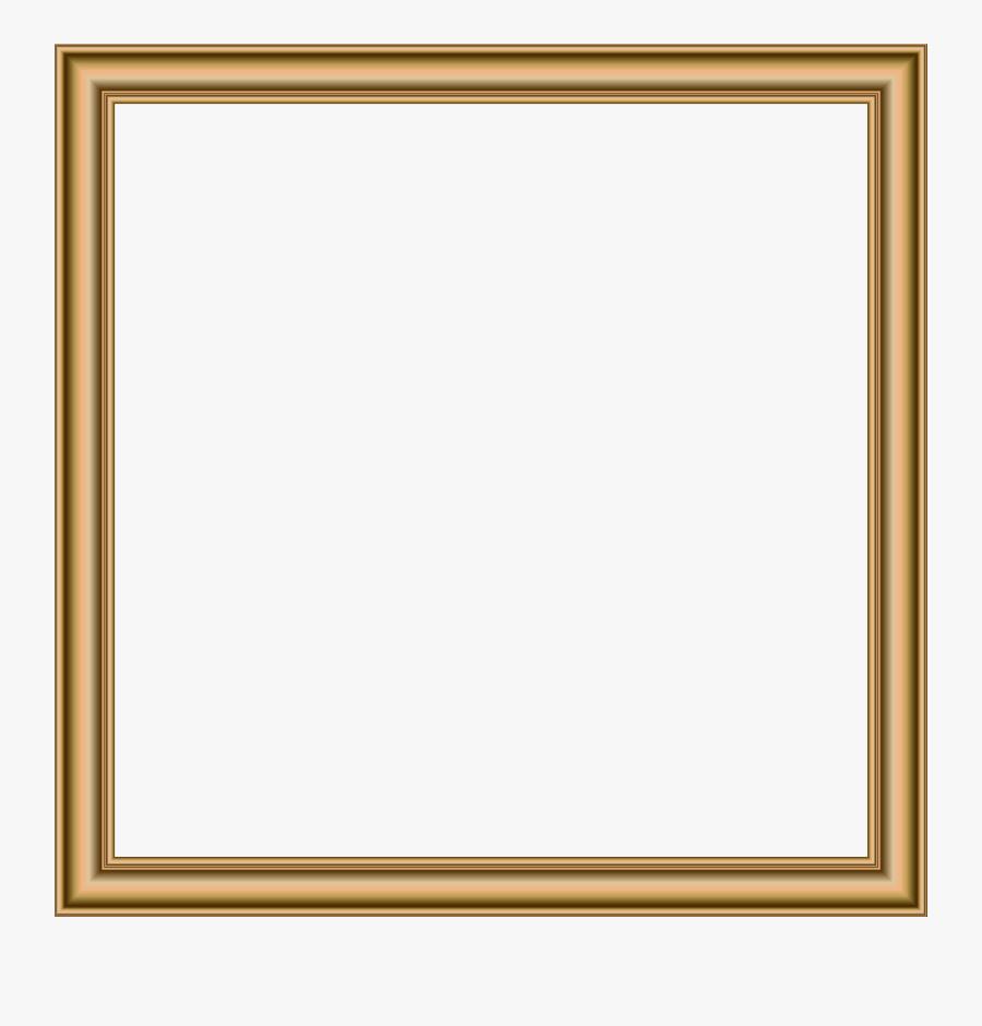 Gold Border Frame Transparent Png Image - Picture Frame, Transparent Clipart
