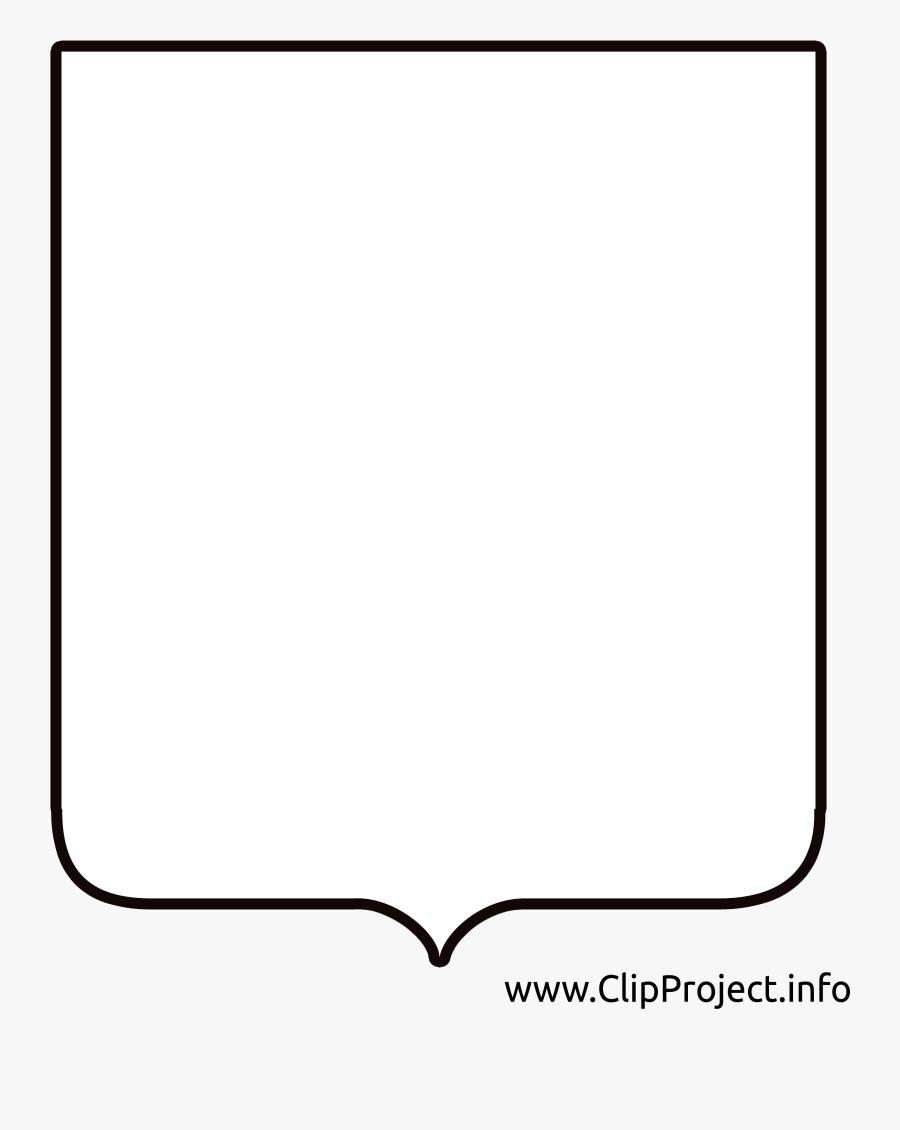 Simple Frames - Щит Для Герба Png, Transparent Clipart