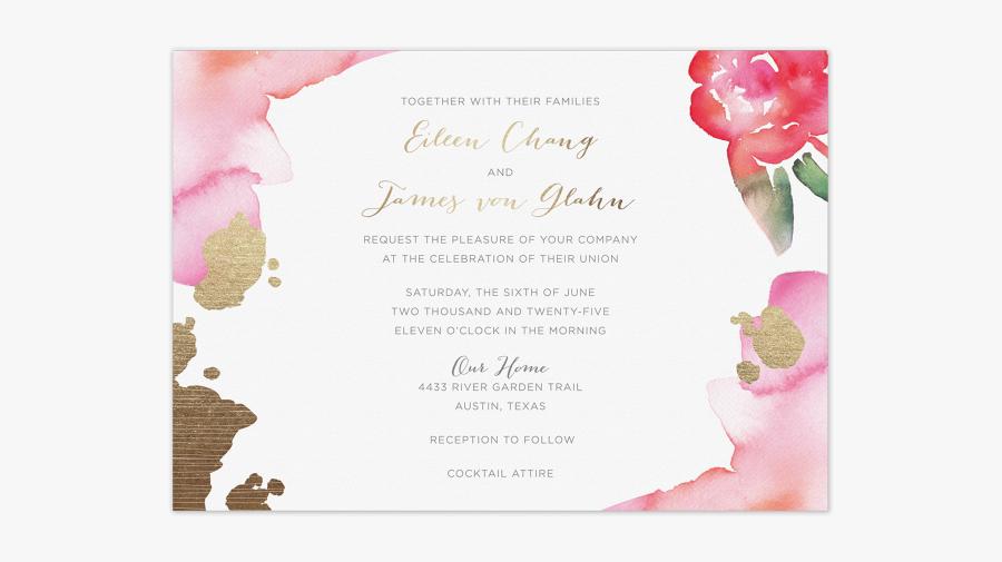 Invitation Clipart Elegant Invitation - Luxury Wedding Invitations Custom Designed Stationery, Transparent Clipart