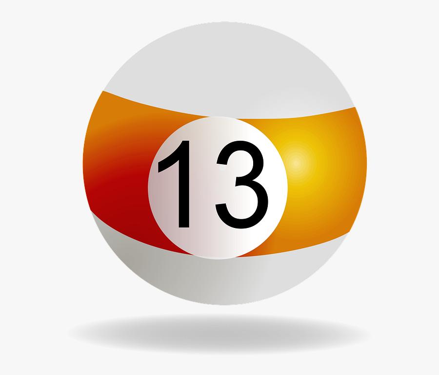 Billiard Logos 12, Buy Clip Art - Bola De Billar 13 Png, Transparent Clipart