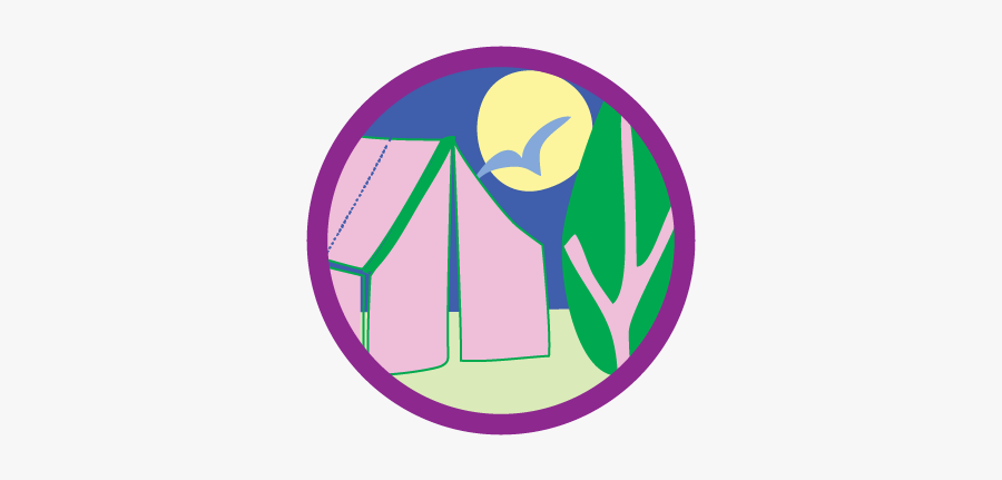 Girl Scout Blog Girl Scouts - Girl Scout Badge Camping, Transparent Clipart