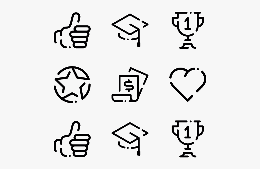 Thumb Vector Up And Down - Thumbs Up Line Icon, Transparent Clipart