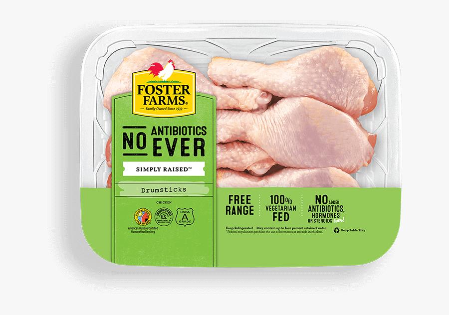 Drumsticks With No Antibiotics Ever - Turkey Chicken Breast, Transparent Clipart