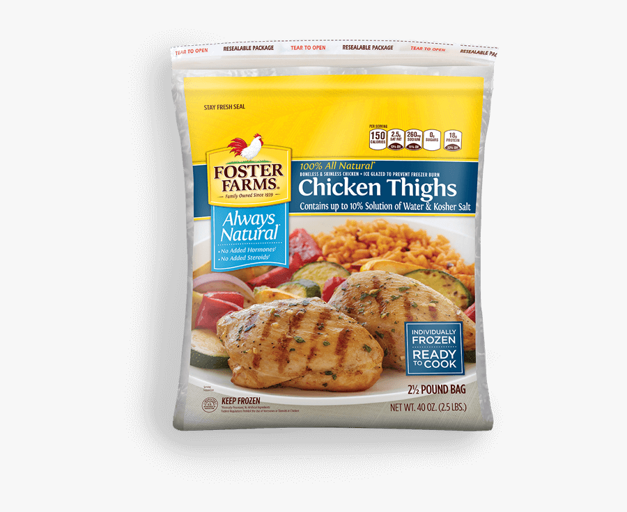 Individually Frozen Boneless Skinless Chicken Thighs - Foster Farms Bowl, Transparent Clipart
