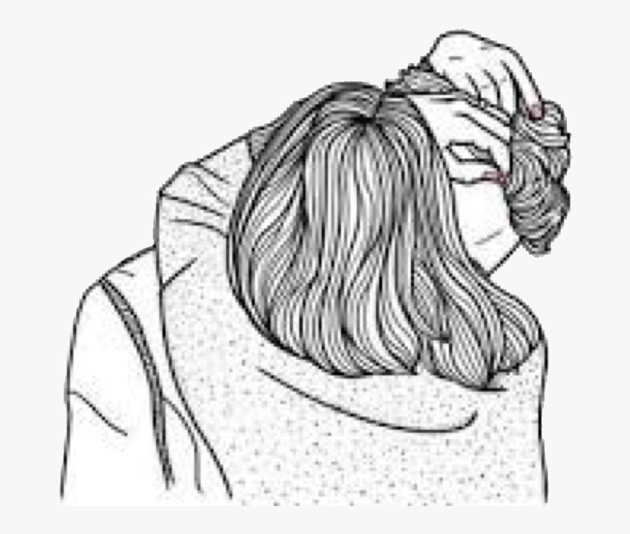 Transparent People Hugging Clipart - Outline Couple Drawings, Transparent Clipart