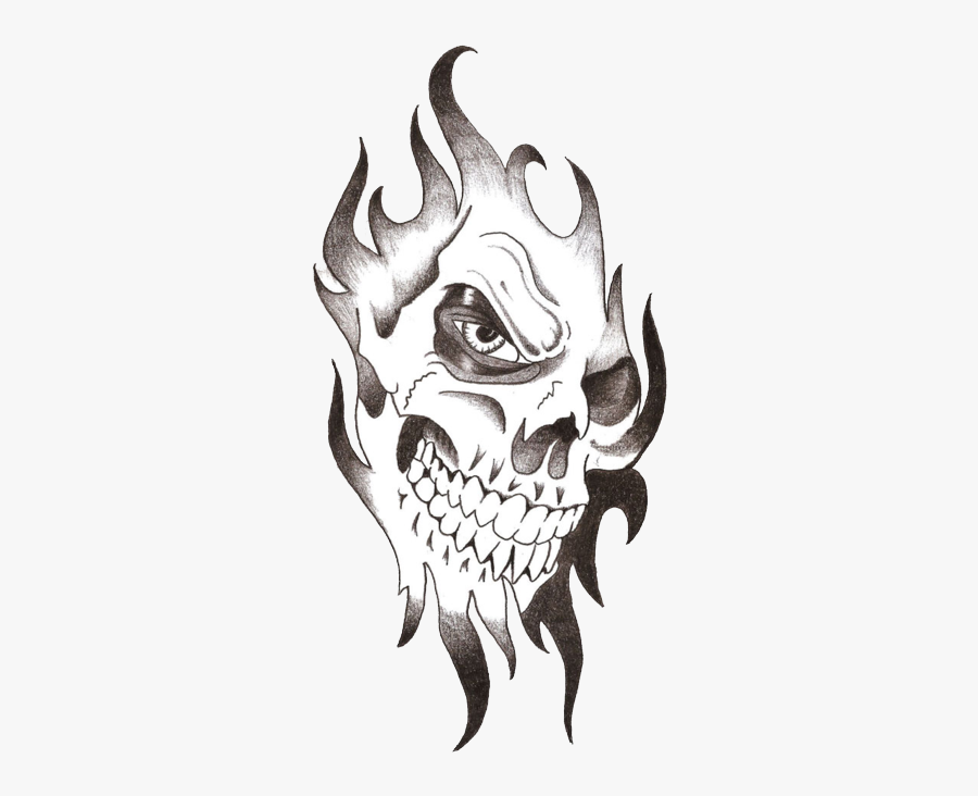 Skull Tattoo Free Download Png - Skull Tribal Tattoo Designs, Transparent Clipart