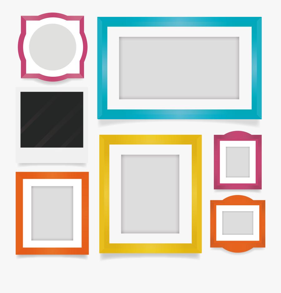 Picture Flat Frame Design Film Exquisite Clipart - Album Photo Frame Design Png, Transparent Clipart