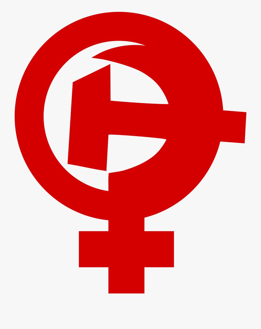 Feminism Female Symbol Big - Feminist Symbol Hammer And Sickle, Transparent Clipart