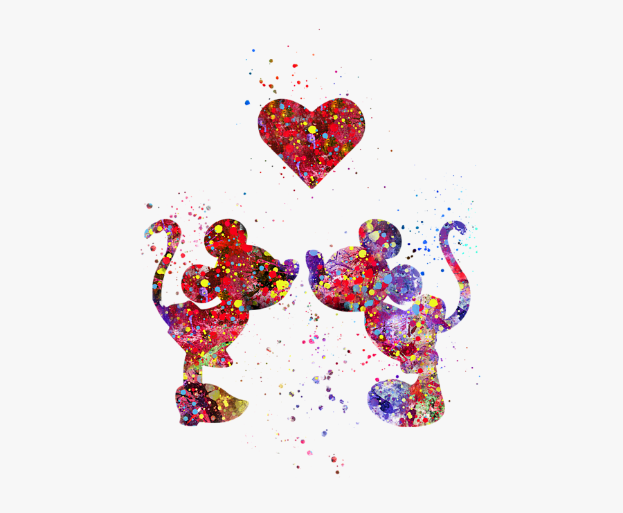 Mickey Mouse And Minnie Mouse Galaxy, Transparent Clipart