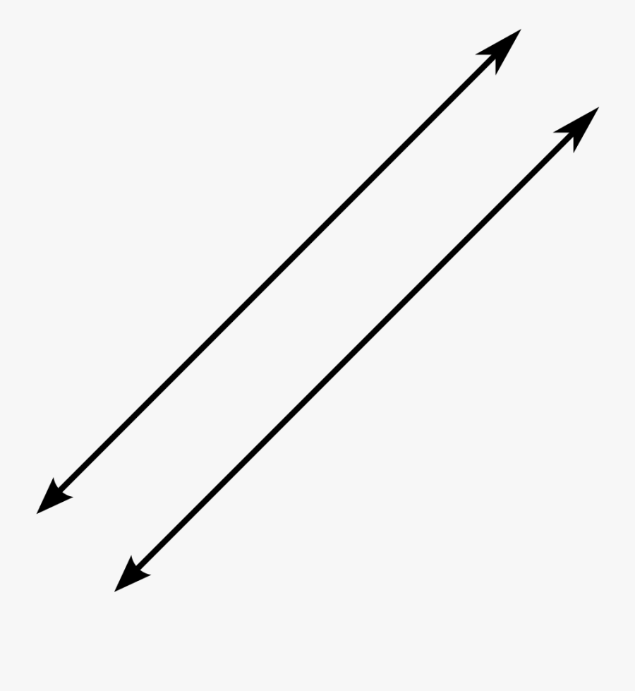 Line Segment Parallel Intersection Transversal - Two Parallel Lines, Transparent Clipart