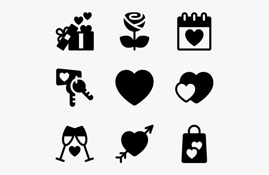 Valentine Day Fill - My Love Transparent Icon, Transparent Clipart