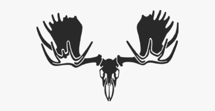Moose Skull Decal, Transparent Clipart