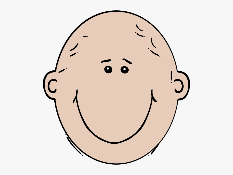 Black And White Bald Heads, Transparent Clipart