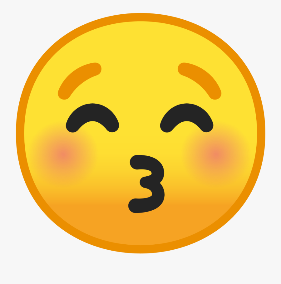 Kissing Face With Closed Eyes Icon - Kissing Face With Closed Eyes Emoji, Transparent Clipart