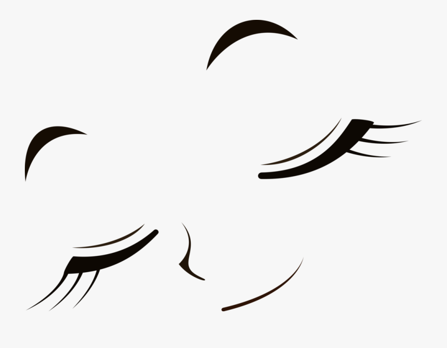 Transparent Closed Clipart - Anime Eyes Small Closed, Transparent Clipart