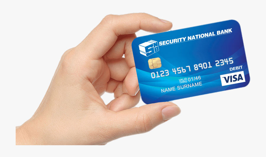 Bank Card In Hand - Security Bank Debit Card, Transparent Clipart