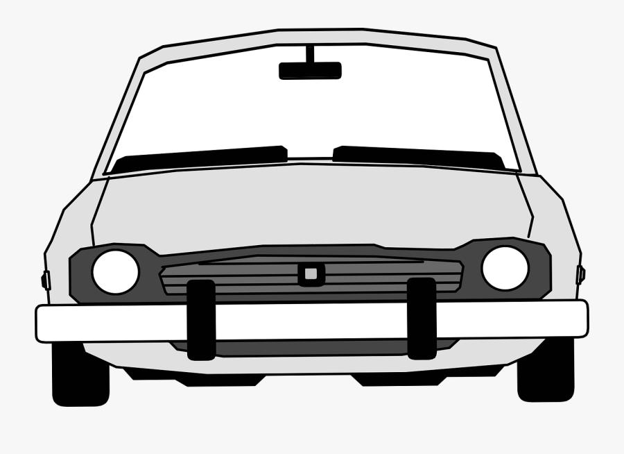 Front View Of Cartoon Car, Transparent Clipart
