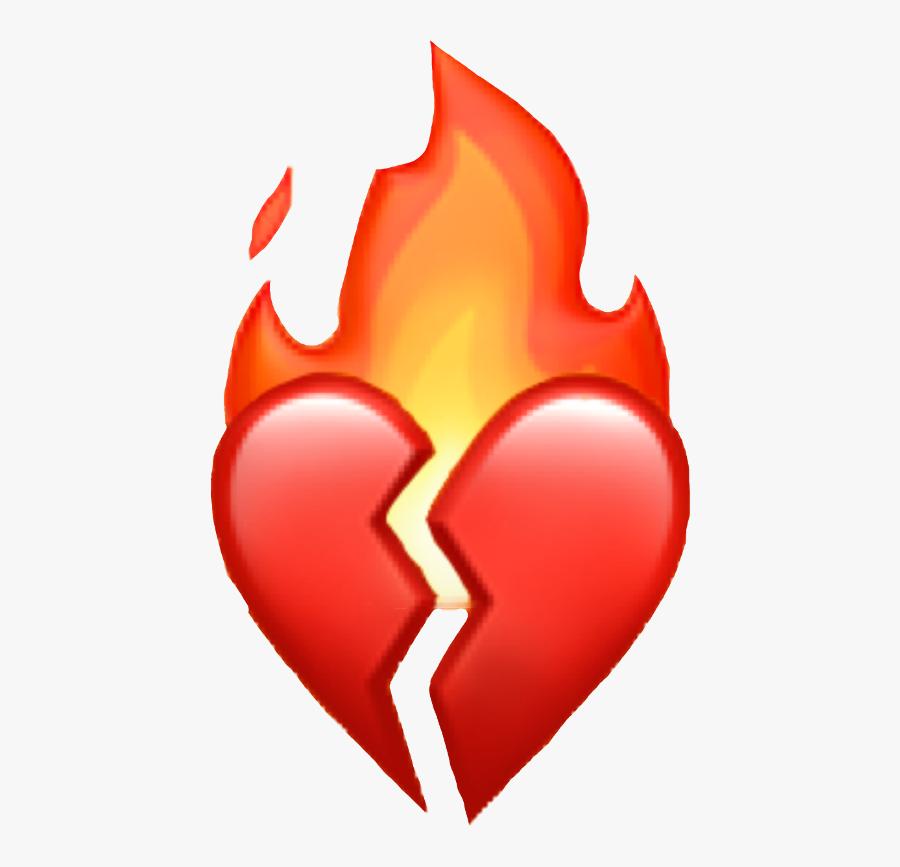 Transparent Shattered Heart Png - Broken Emoji, Transparent Clipart