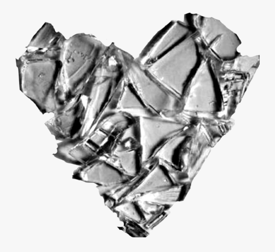 #broken #glass #brokenglass #heart #brokenheart #heartbroken - Heart Broken Like Glass, Transparent Clipart