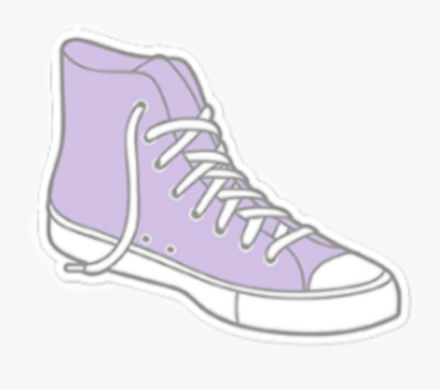 #converse #purple #cool #tumlr #tumblrgirl # Stickertumblr - Purple Converse Sticker, Transparent Clipart