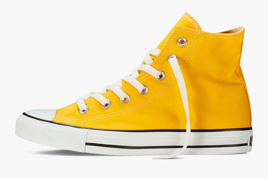Transparent Chuck Taylor Clipart - Yellow Converse Transparent Background, Transparent Clipart