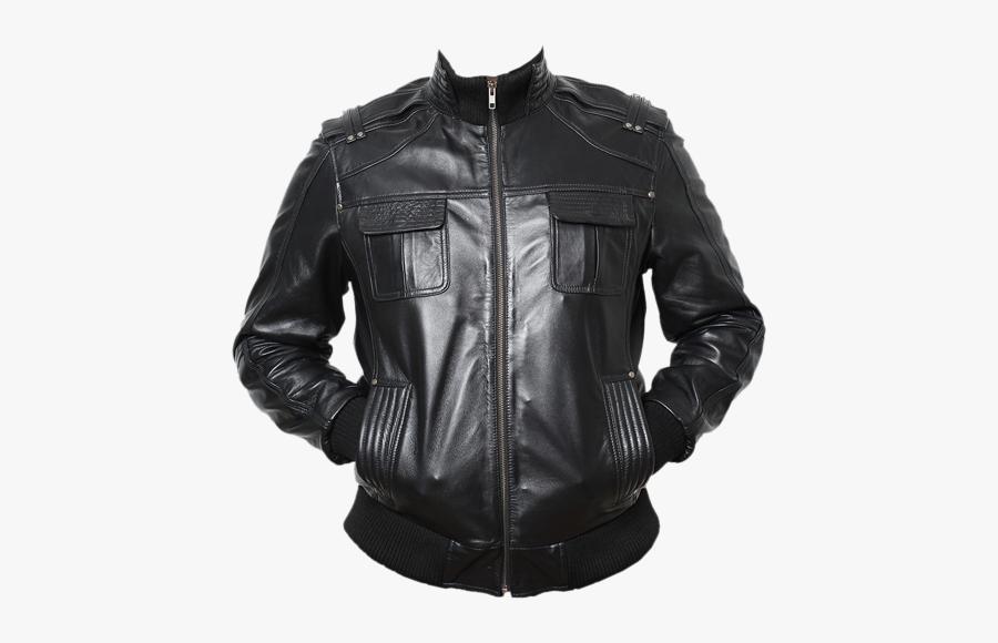 Leather Jacket Clothing Fashion - Leather Jacket Men Png, Transparent Clipart