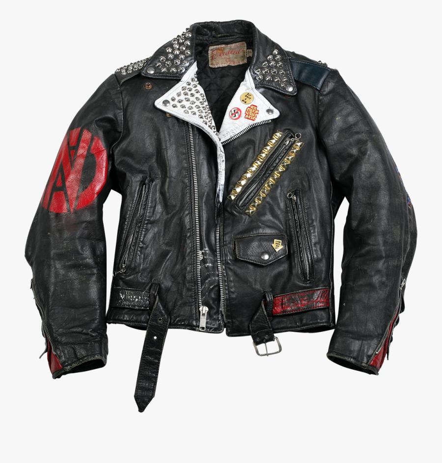 Vintage Punk Jacket, Transparent Clipart