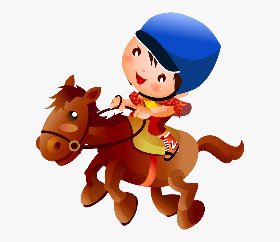 Horse Riding Cartoon Png, Transparent Clipart
