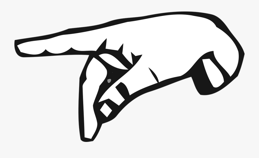 Alphabet, Deaf, Deaf Alphabet, Hand, Letter, Mute, - Letter P Hand Sign, Transparent Clipart