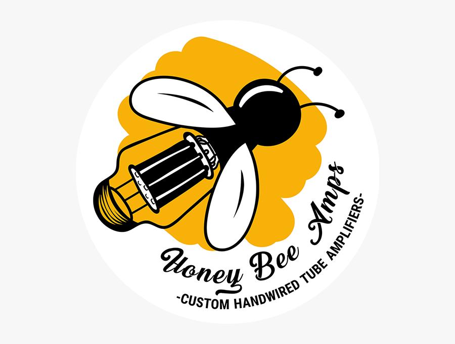 Honey Bee Amps Logo2 - Honey Bee Amp, Transparent Clipart
