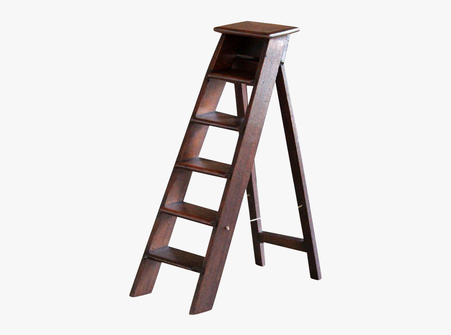 Vector Royalty Free Library Antique English Miniature - Step Ladder Transparent Background, Transparent Clipart