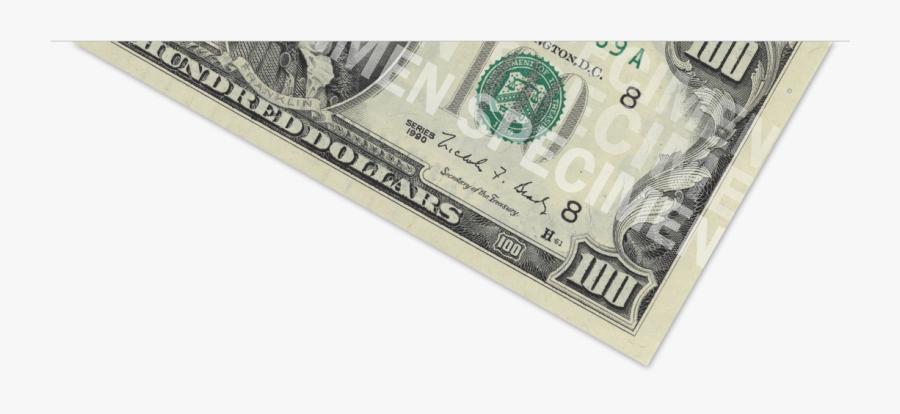 Dollar Transparent - 100 Dollar Bill, Transparent Clipart