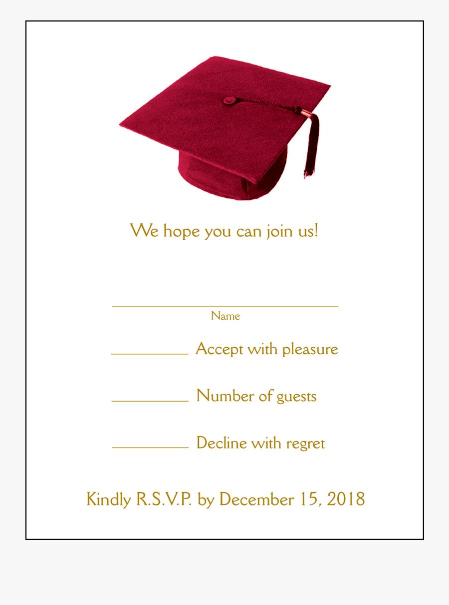 Party Invitation Grad Page - Graduation Party Invitation Card Purple, Transparent Clipart
