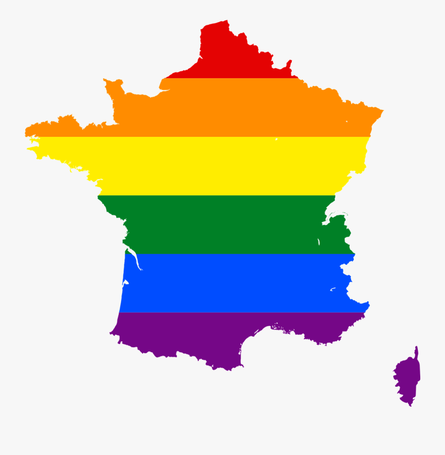France Flag And Gay Flag Clipart , Png Download - France Flag Map, Transparent Clipart