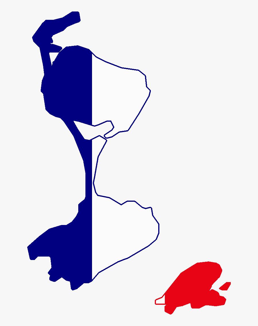 Saint Pierre And Miquelon Flag Map, Transparent Clipart