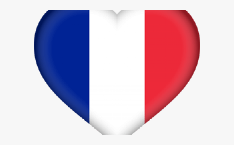 French Flag Clipart - French Flag Emoji Heart, Transparent Clipart