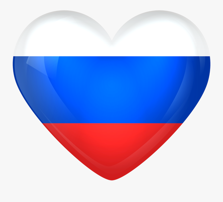 #russia #france #flag #heart #worldcup #worldfootball - Russian Flag Heart Png, Transparent Clipart