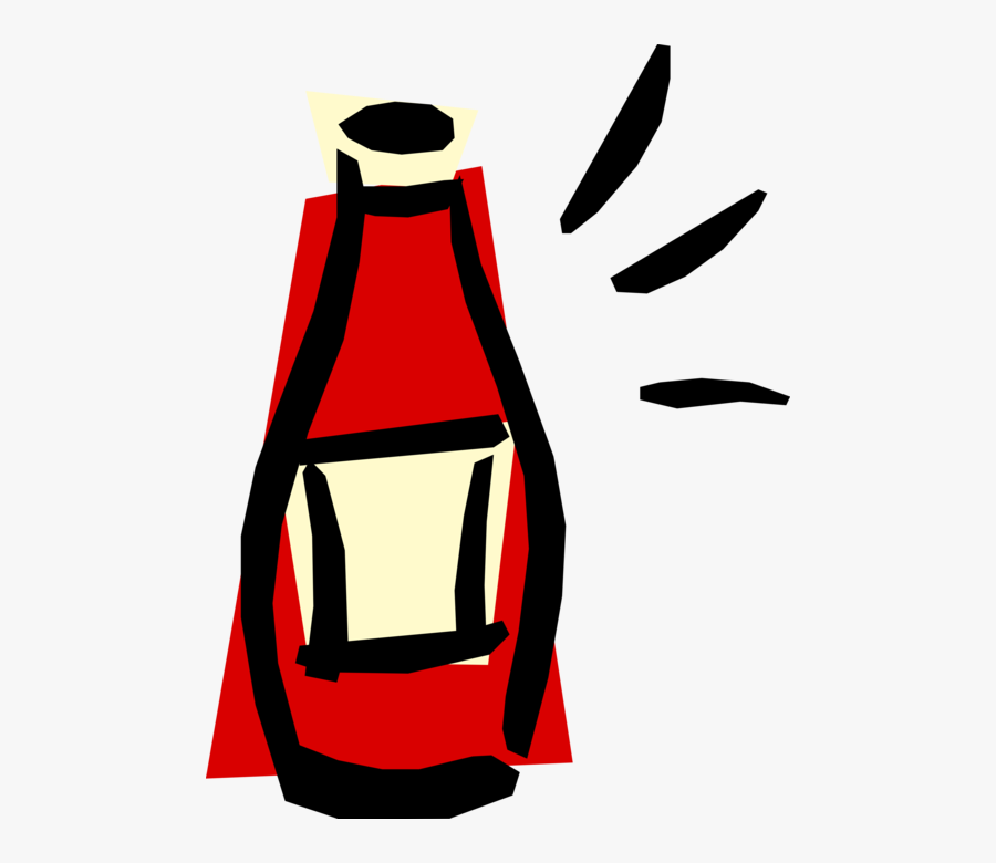 Vector Illustration Of Ketchup Bottle Condiment Of, Transparent Clipart