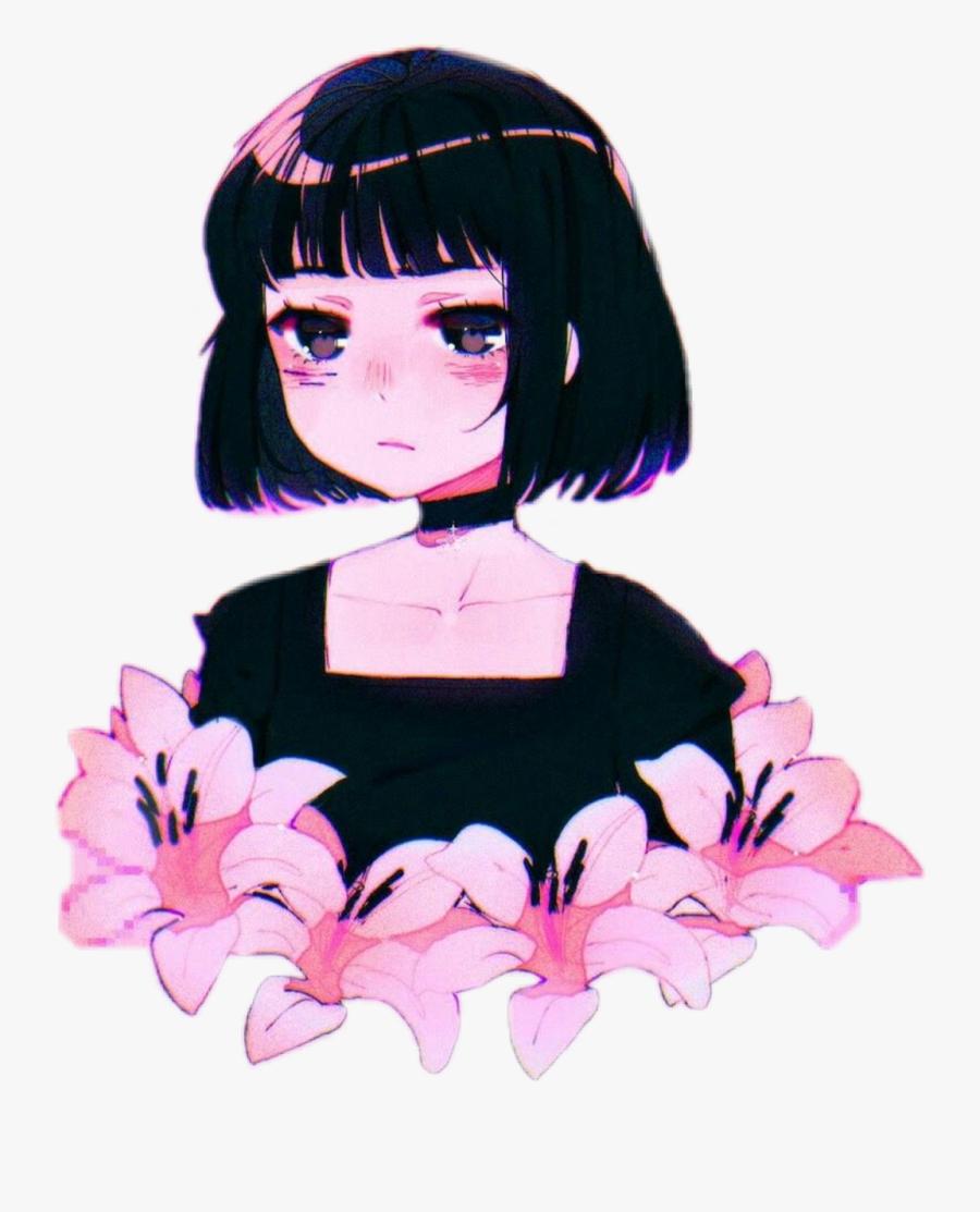 Flower Anime Girl Aesthetic