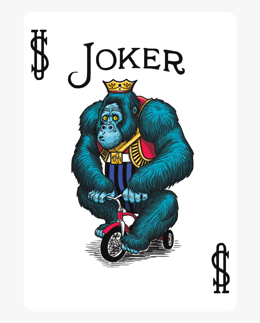 Bicycle Playing Cards Joker, Transparent Clipart