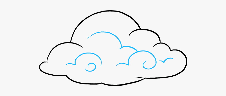 How To Draw Clouds - Clouds Drawing, Transparent Clipart