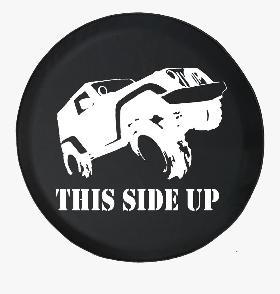 This Side Up Wrangler Off Road - Jeep Tire Cover Wander, Transparent Clipart