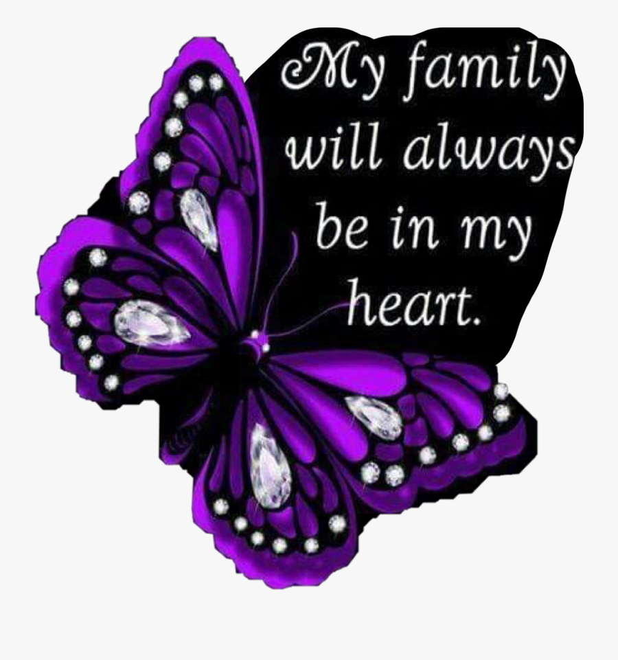 #purple #family #love #butterfly #quote #heart #freetoedit - Pink And Purple Butterfly, Transparent Clipart