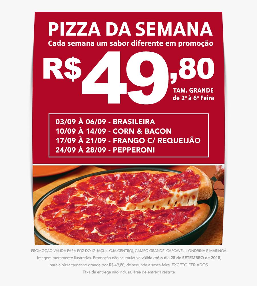 Pizza Hut Pepperoni Pizza , Png Download - Pepperoni Pizza Pizza Hut Slice, Transparent Clipart