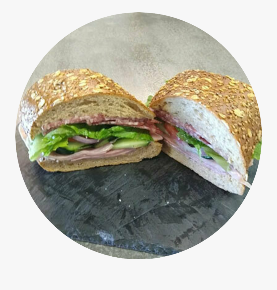 Italian Sub On Grain Roll - Fast Food, Transparent Clipart